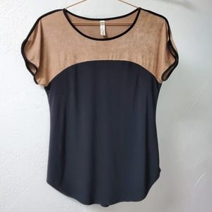 3/50% PERSEPTION CONCEPT | Brown Black Blouse S